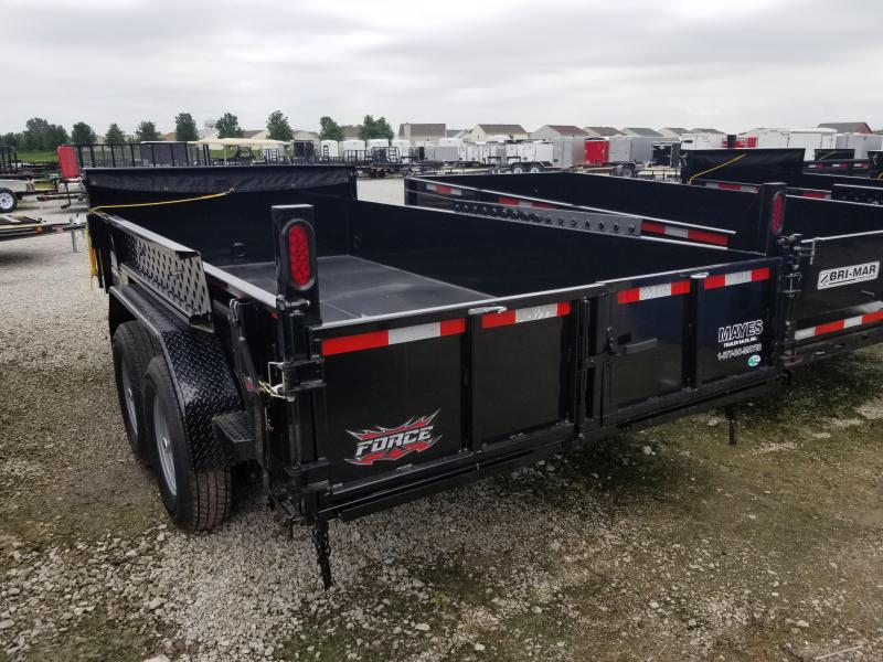2019 82x14 Force by Forest River Inc. HDL6814TA5 Dump Trailer - (Split/Spreader Gate)(Ramps) (GVW: 14000)