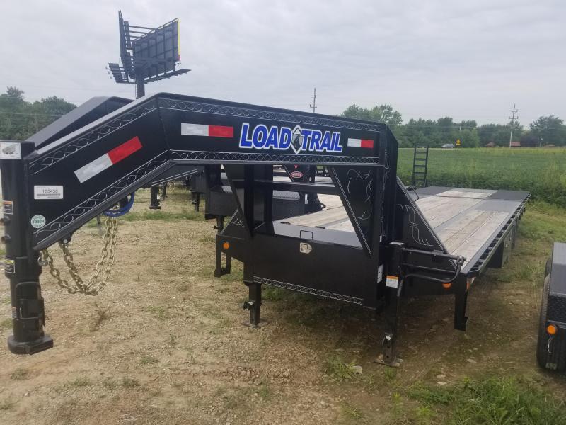 2018 102x30(21+9 Hyd Dovetail) Load Trail GL Flatbed Trailer - Hydraulic Dovetail (GVW: 25000) gooseneck