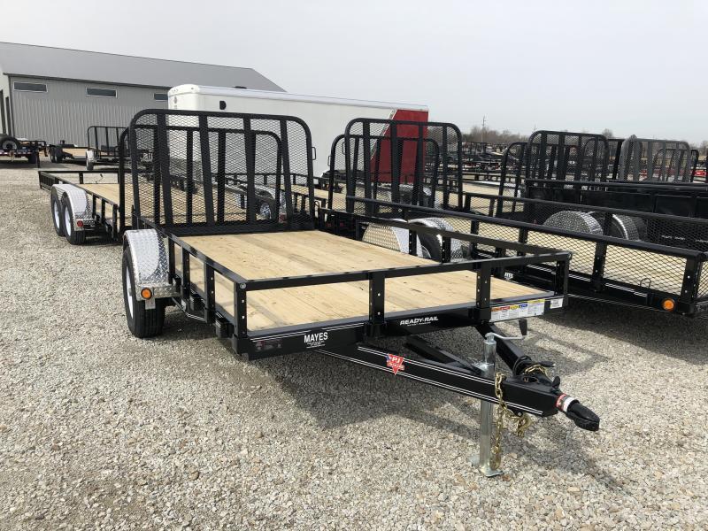2019 77x12 PJ Trailers Single Axle Channel Utility Trailer - Rear Gate (GVW:  2995)