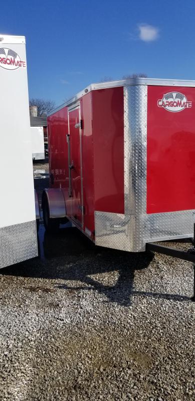2019 5x10 SA Cargo Mate EHW510SA Enclosed Cargo Trailer - Ramp Door0