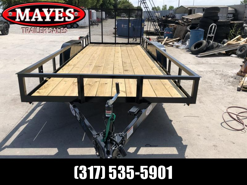 2020 76x18 TA American Manufacturing Operations (AMO) UT182 Utility Trailer - Tailgate (GVW:  7000)