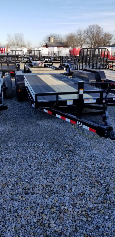 "2019 83x18(2' Stationary+16' Tilt)  PJ Trailers 6"" Channel Equipment Tilt Trailer - Torsion (GVW:  14000)"