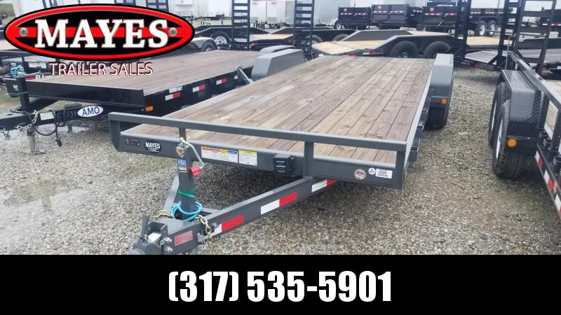 2019 83x22(20+2' Dovetail) PJ Trailers CE Equipment Trailer - w/ 5' Slide-in Ramps (GVW: 9899)(Spare Tire and Mount)