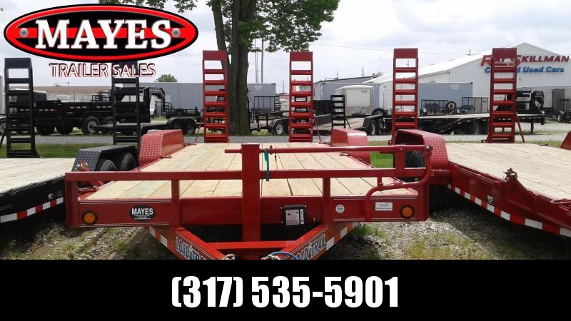 2019 83x20 (18+2) TA Load Trail CH8320072 Trailer - Fold Up Ramps - D-Rings (GVW:  14000)