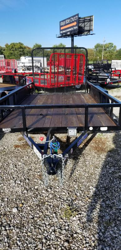 2018 77x14 Load Trail UT14 Tandem Axle Utility Trailer - w/ 5' Fold-up Gate (GVW: 7000)