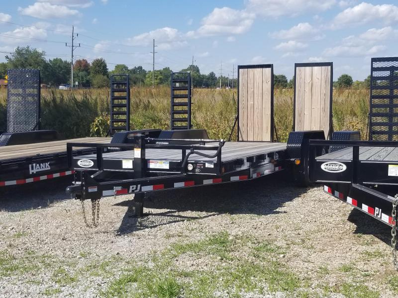 """2017 80in x20(16+4' Dovetail) PJ Trailers CC 6"""" Channel Equipment Trailer - w/ 31x66 HD Fold-up Ramps (GVW: 16000)(Wood on Ramps)"""