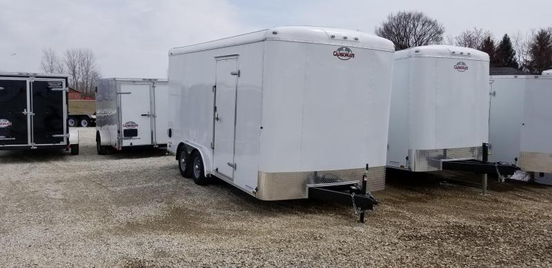 "2020 8x16 TA Cargo Mate BL816TA3 Enclosed Cargo Trailer - Ramp Door - 12"" Additional Height (GVW:  9800)"