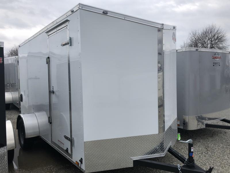 "2019 6.5x12 Cargo Mate EHW612SA Enclosed Cargo Trailer - Polar White (RD)(GVW: 2990)(6"" Extra Height)"