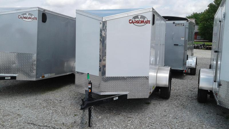 2019 5x8 SA Cargo Mate EHW58SA Enclosed Cargo Trailer - Double Door - Slant Nose (GVW:  2990)