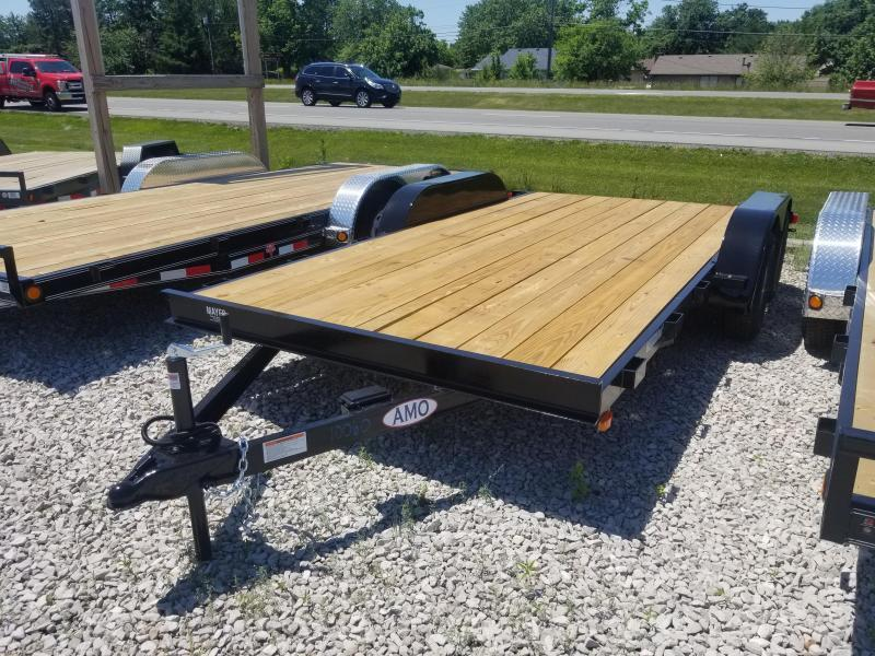 2019 82x16(14+2' Dovetail) American Manufacturing Operations AF16 Car / Racing Trailer - 5' Slide-in Ramps (GVW: 7000)