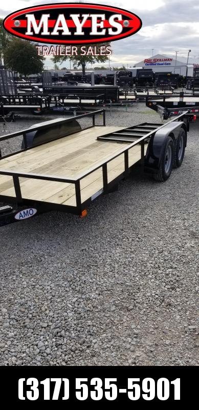 2019 76x16  American Manufacturing Operations (AMO) UT162 Utility Trailer - 76x16 (14+2) Tandem Axle Utility (GVW:  7000)
