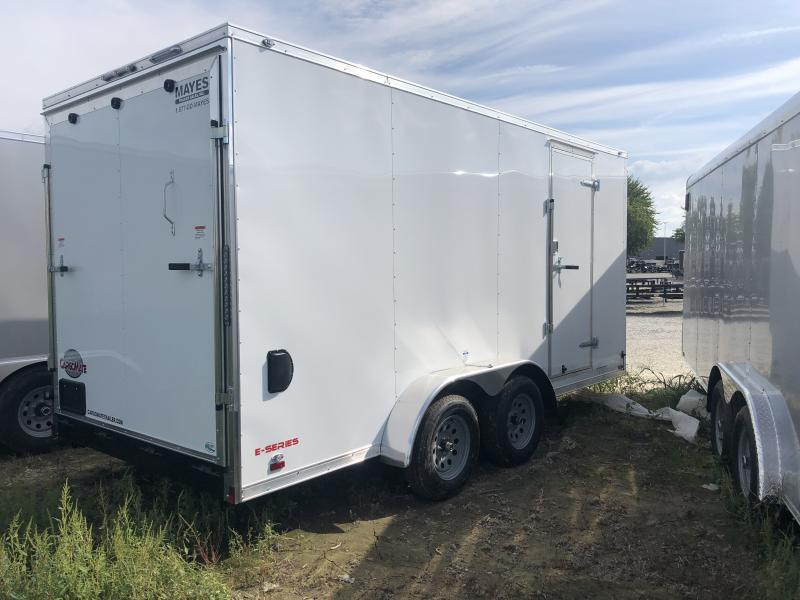 2020 7x16 TA Cargo Mate EHW716TA2 Enclosed Cargo Trailer - 6 Inch Additional Height - Ramp Door - Side by Side Pkg. (GVW:  7000)