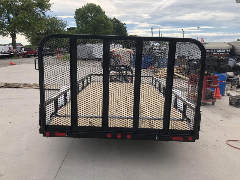 2020 83x14(12+2' Dovetail) PJ Trailers U8 Utility Trailer - w/ 4' Fold-up Gate (GVW: 4995) *5200# Axle*