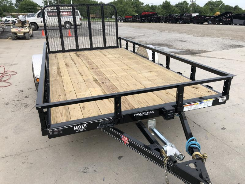 2020 83x14(12+2' Dovetail) PJ Trailers U8 Utility Trailer - w/ 4' Fold-up Gate (GVW: 4995) *5200# Axle*
