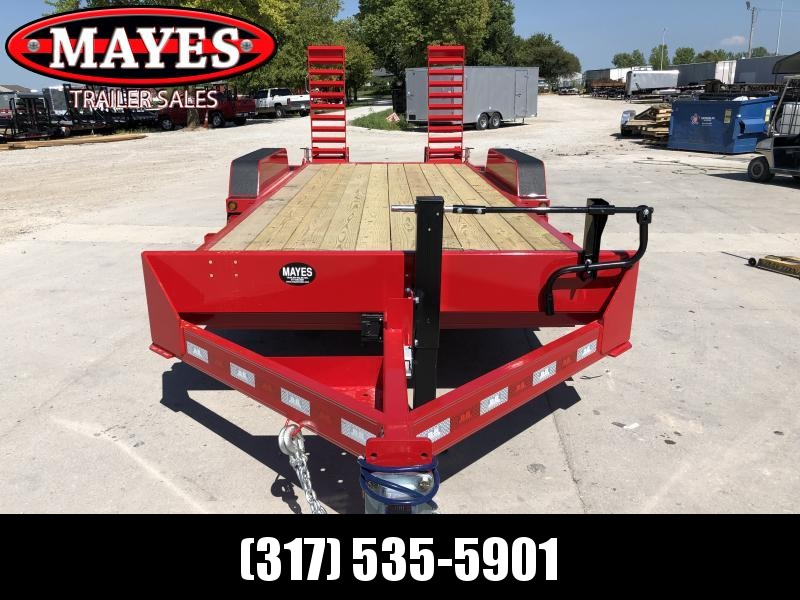 2020 B-B 18 Foot (16+2) CBCT2014E-S Equipment Trailer - D-Rings - Flip Up Ramps (GVW:  14000)