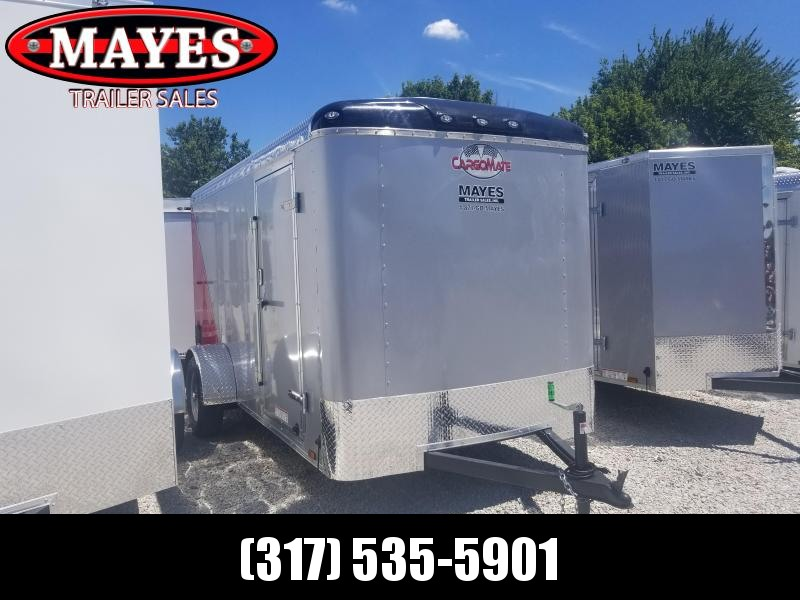 2018 6x12 Cargo Mate BL612SA Enclosed Cargo Trailer - Diamond Ice / Red (RD)(GVW: 2990)