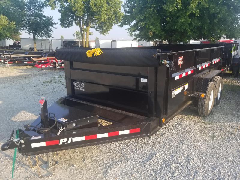 "2019 83x14 PJ Trailers DM 83"" Low Pro 3ft High Side Dump Trailer - (Split/Spreader Gate)(Tarp Kit)(GVW: 14000)"