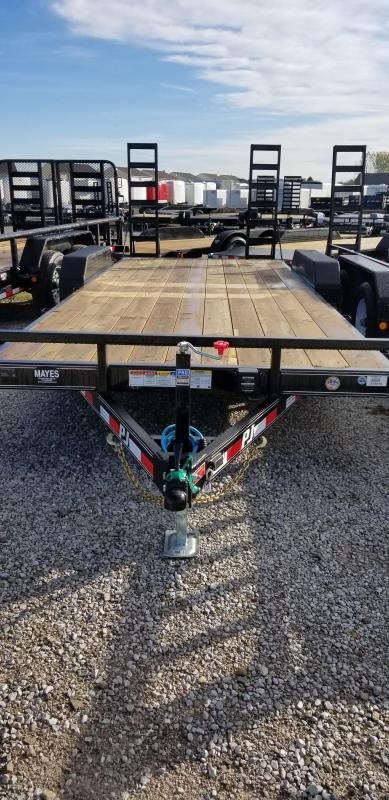 "2019 83x20(18+2' Dovetail) PJ Trailers CE 5"" Channel Equipment Trailer - w/ 2 Fold-up Ramps (GVW: 9899)"