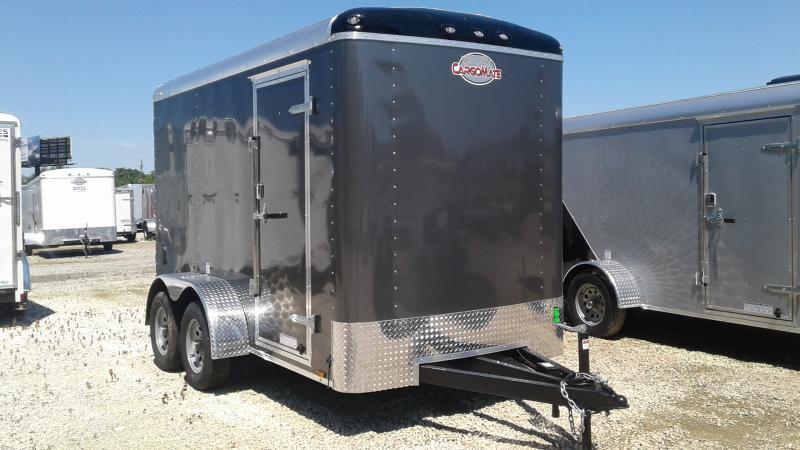2020 6x12 TA Cargo Mate BL612TA2 Enclosed Cargo Trailer - Ramp Door - 6 Inch Additional Height (GVW:  7000)