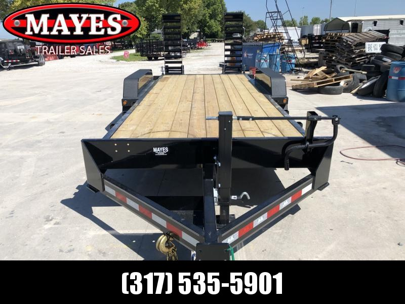 2020 20 Foot (18+2) TA B-B CBCT20203-S10K Equipment Trailer - D-Rings - Fender Guides - Flip Up Ramps (GVW:  20000)