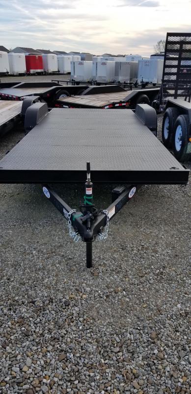 2019 82x20 American Manufacturing Operations AFD18BB Car / Racing Trailer - w/ 5' Slide-in Ramps (GVW: 7000) *Steel Floor*