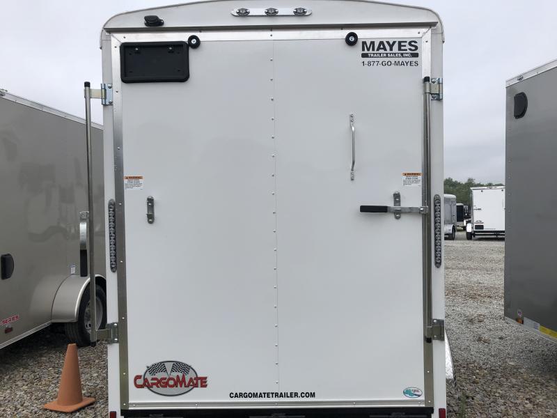 "2019 6x12 Cargo Mate BL612TA2 Enclosed Cargo Trailer - Polar White (RD)(6"" Extra Height)(GVW: 7000)"