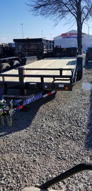 "2019 83x22 (20+2)  Load Trail 83"" X 22' Tandem Axle Carhauler Car / Racing Trailer - Max Ramps (GVW:  14000)"