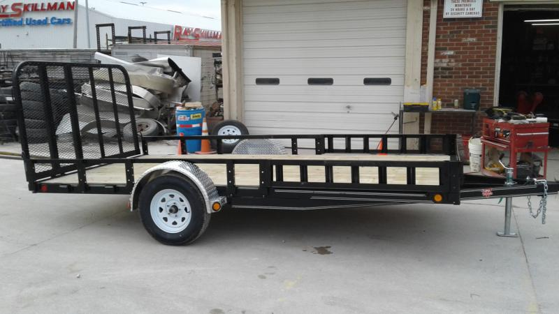 2019 83x14 SA PJ Trailers U8141 Utility Trailer - Tailgate - ATV Ramps (GVW:  2995)