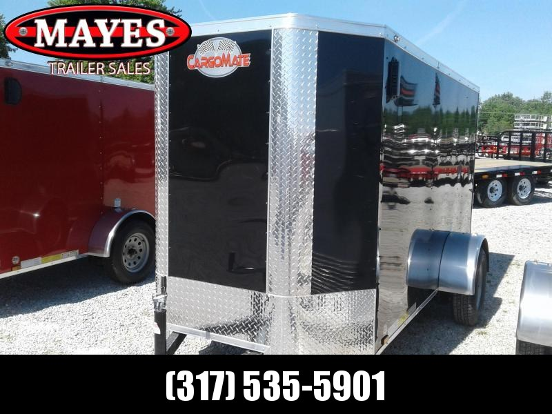 "2019 5x10 Cargo Mate EHW510SA Enclosed Cargo Trailer - Black (RD)(GVW: 2990)(6"" Extra Height) *Tapered Front*"
