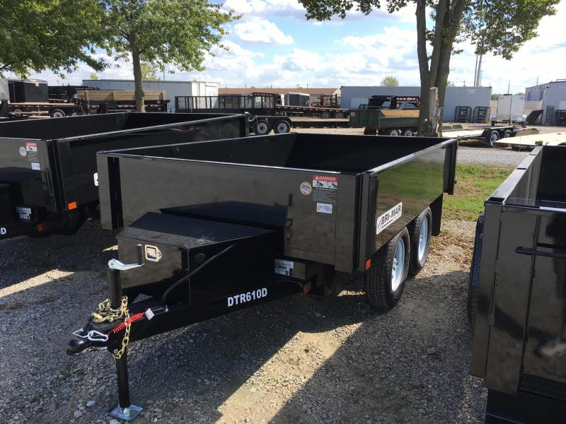 2018 72x10 Bri-Mar DTR610D-7 Dump Trailer - (One Piece Gate)(GVW: 7000) *DECKOVER*