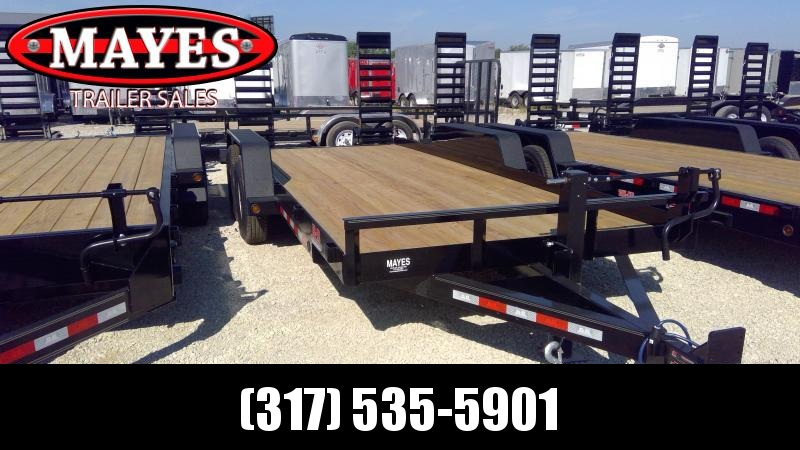 2020 83x18 TA B-B BCT1814E Equipment Trailer - 5 Foot Flip Up Ramps (GVW:  14000)