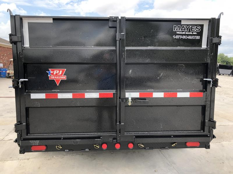 2020 83x14 TA Low Pro High Side PJ Trailers DM142 Dump Trailer - Split Spread Gate (GVW:  14000)