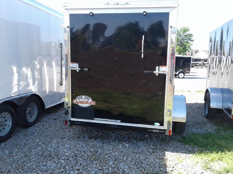 "2019 6x10 Cargo Mate EHW610SA Enclosed Cargo Trailer - Black (RD)(GVW: 2990)(6"" Extra Height)"