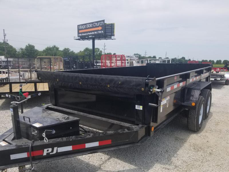 "2019 83x14 PJ Trailers DL 83"" Low Pro Dump Trailer - (Tarp Kit)(GVW: 14000)"