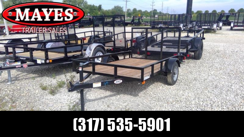2020 5x8 SA American Manufacturing Operations (AMO) U081 Utility Trailer - Tailgate - 12 Inch Tires (GVW:  2200)