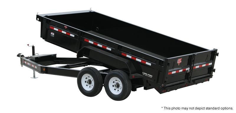 "2019 83x14 PJ Trailers DL 83"" Low Pro Dump Trailer - (Split/Spreader Gate)(Tarp Kit)(GVW: 14000)"