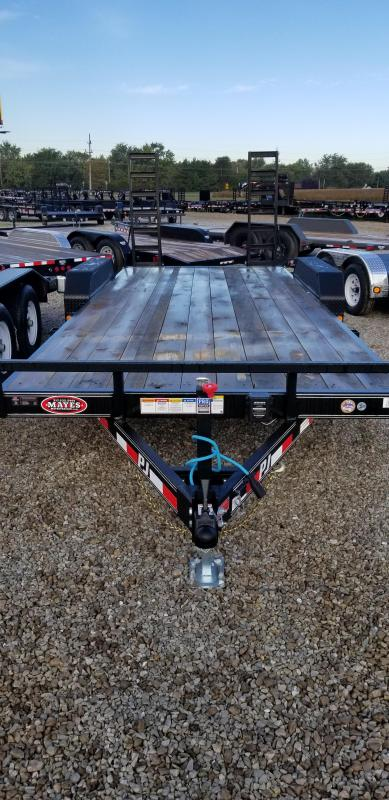 """2019 83x20(18+2' Dovetail) PJ Trailers CE 5"""" Channel Equipment Trailer - w/ 2 Fold-up Ramps (GVW: 9899)"""