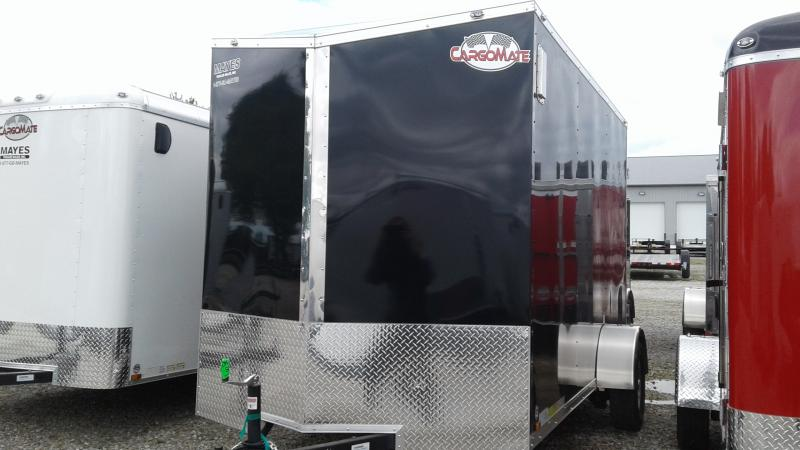 2018 6x12 SA Cargo Mate EHW612SA Enclosed Cargo Trailer - Ramp Door - Extra Height - Side by Side Pkg. (GVW:  2990)