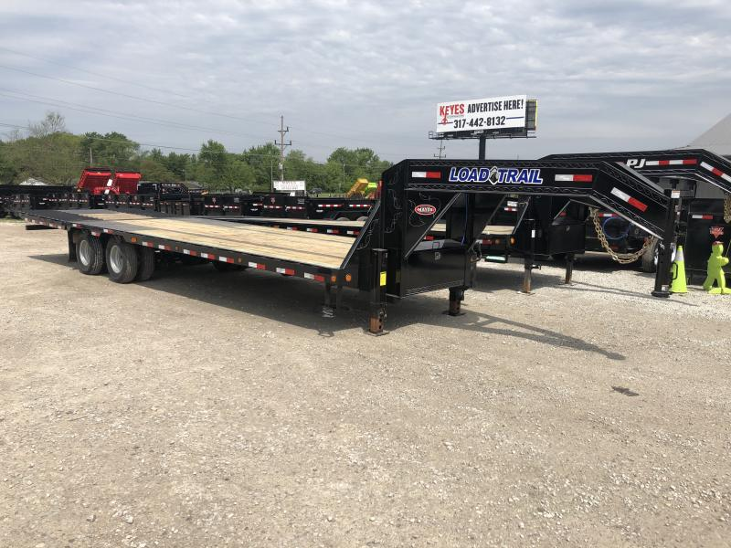 "2019 102x32 (23+9) Load Trail 102""x32' TA Low Pro Gooseneck - Hyd. Dovetail (GVW:  24000)"