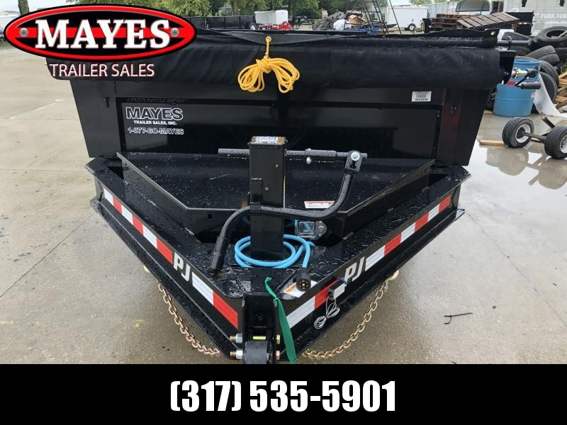 2020 83x14 Low Pro PJ Trailers DL142 Dump Trailer - Split Spread Gate - Divided Toolbox - Power Up/Gravity Down - Tarp Kit (GVW:  14000)