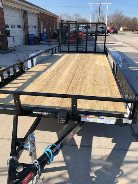 "2019 PJ Trailers 16'x83"" Tndm Axle Channel Utility Trailer - Rear Gate - ATV Ramps - (GVW:  7000)"