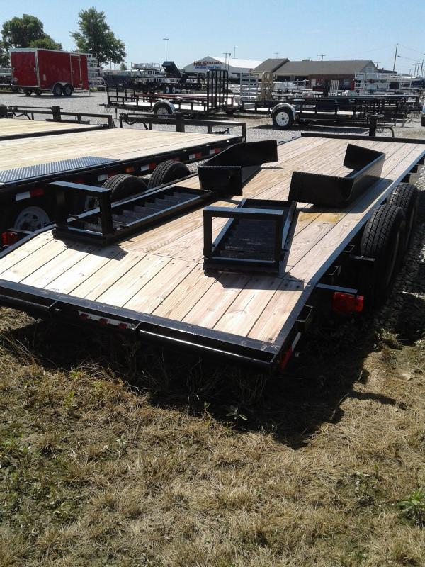 2018 82x22 American Manufacturing Operations A1422CE Equipment Trailers - w/ 2 Fold-up Ramps (GVW: 14000)
