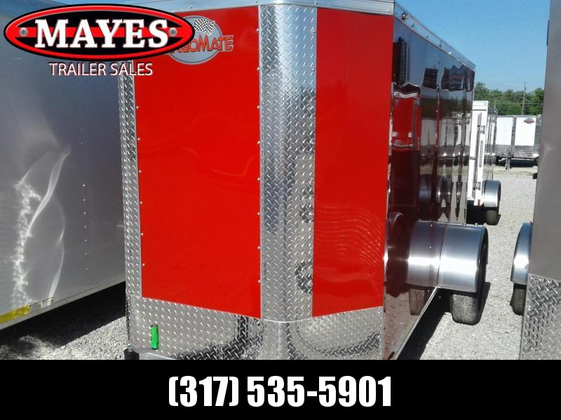 """2019 5x10 Cargo Mate EHW510SA Enclosed Cargo Trailer - Diamond Ice (RD)(GVW: 2990)(6"""" Extra Height) *Tapered Front*"""