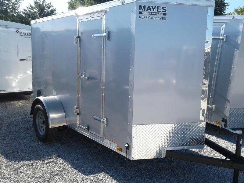 "2019 5x10 Cargo Mate EHW510SA Enclosed Cargo Trailer - Diamond Ice (RD)(GVW: 2990)(6"" Extra Height)"