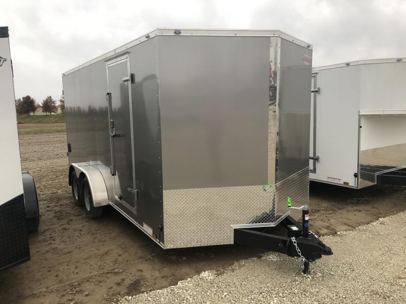 2019 7x16 Cargo Mate EHW716TA2 Enclosed Cargo Trailer - Double Door (GVW:  7000)
