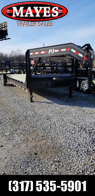 2019 32' (28+4) PJ Trailers C8322 Equipment Trailer - Gooseneck (GVW:  15680)