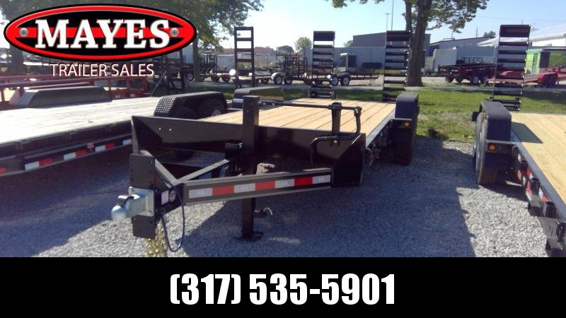 2020 20 Foot (18+2) TA B-B CBCT2020E-S10K Equipment Trailer - D-Rings - Fender Guides - Flip Up Ramps (GVW:  20000)