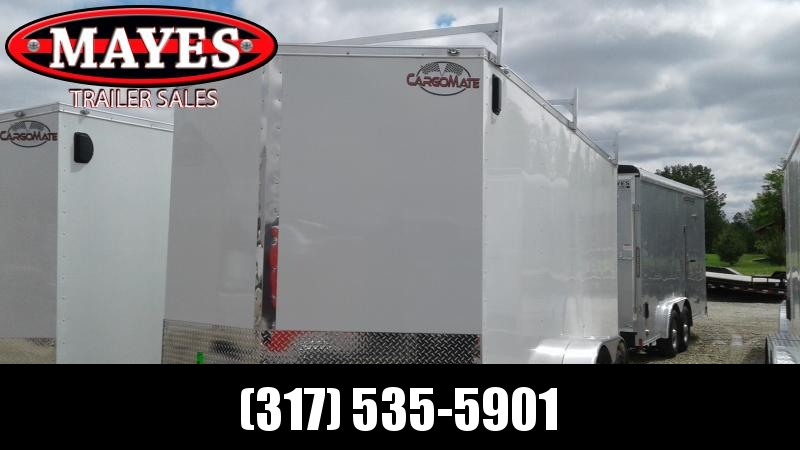 2020 7x14 TA Cargo Mate EHW714TA2 Enclosed Cargo Trailer - Double Door - Ladder Racks - 6