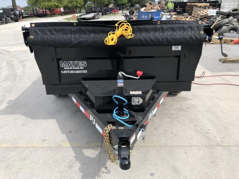 2020 72x10 TA PJ Trailers D3102 Dump Trailer - Split/Spread Gate - Tarp Kit (GVW:  9899)