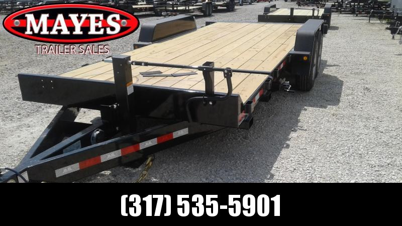 2020 20 Foot (4+16) Tilt B-B TBCT202ET-10K Equipment Trailer - Pallet Fork Holders - D-Rings - Side Lock-Out Valve (GVW:  20000)